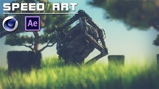 getlinkyoutube.com-SpeedArt | Ancient Anomaly [Cinema 4D + After Effects] FullHD 60fps [Timelapse]