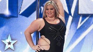 getlinkyoutube.com-A pole-dancing masterclass from Emma Haslam | Britain's Got Talent 2014