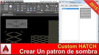 getlinkyoutube.com-Crear patrones de sombra en autocad - Custom Hatch