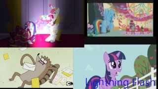 getlinkyoutube.com-My Little Pony, Regular Show, Teen Titans Go! and Lightning Flash Sparta G.O.D Remix Preview