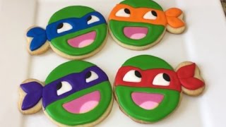 getlinkyoutube.com-Awesome Face Teenage Mutant Ninja Turtle Cookies (How To)