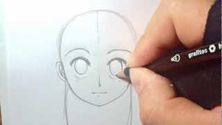 getlinkyoutube.com-Dibujando Manga con Shukei #2: Cabeza y rostro