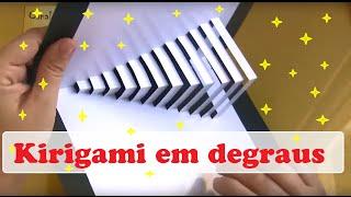 getlinkyoutube.com-COMO FAZER CARTÃO KIRIGAMI EM DEGRAUS