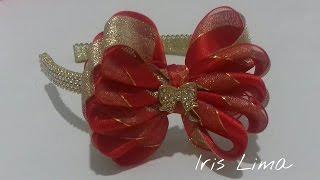 getlinkyoutube.com-Como fazer laço mil faces Diy ,Tutorial ,Pap By Iris Lima How To Make a Hair Bow