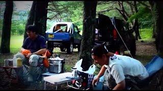 getlinkyoutube.com-7月のジムニーキャンプ 富士山廃道4x4探検 Vol.05. ブッシュクラフトに挑戦