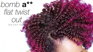getlinkyoutube.com-Flat Twist Out on Dry Hair | Natural Hair | askpRoy