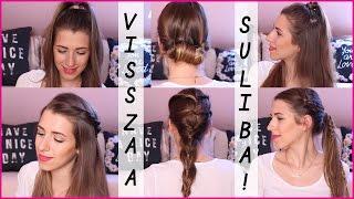 getlinkyoutube.com-VISSZA A SULIBA: 5 egyszerű frizura | Herczeg Hajni