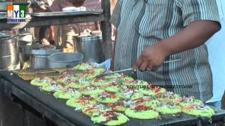 getlinkyoutube.com-Pesarattu | 32 pesarattu'S At a Time | Green gram Dosa | KAKINADA | INDIAN STREET FOOD