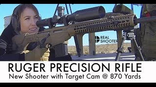 Ruger Precision Rifle: New Shooter @ 870 Yds with Target Cam