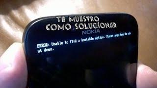getlinkyoutube.com-ERROR: unable to find a bootable option. press any key to shut down lumia