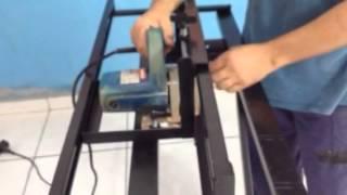 getlinkyoutube.com-Suporte para máquina de cortar piso