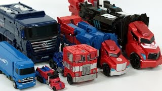 getlinkyoutube.com-Transformers Optimus Prime Carbot Truck Robot Car Toys 트랜스포머 옵티머스 프라임 헬로카봇 펜타스톰 트럭 장난감 변신 동영상