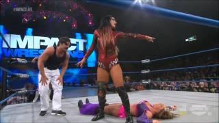 getlinkyoutube.com-Impact Wrestling 04/04/2013 Tara & Gail Kim vs Velvet Sky & Taryn Terrell