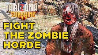 getlinkyoutube.com-Arizona Sunshine - VR Zombie Shooting Fun in the Sun Gameplay | Oculus Touch Gameplay
