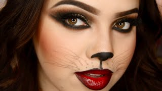 getlinkyoutube.com-Sexy Cat Halloween Makeup