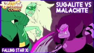 getlinkyoutube.com-Sugalite Vs Malachite - Steven Universe Comic (Español)