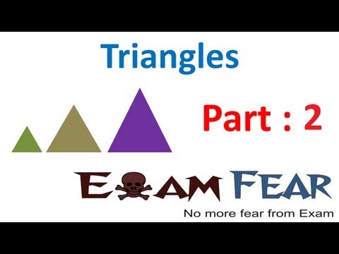 Maths Triangles part 2 (Example Similar Figures) CBSE class 10 Mathematics X