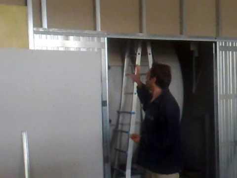 Come montare una porta scorrevole nel cartongesso fai da - Montare telaio porta ...