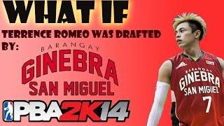getlinkyoutube.com-PBA 2K: What If Barangay Ginebra drafted Terrence Romeo?