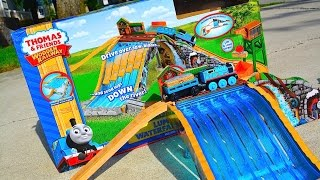getlinkyoutube.com-Thomas And Friends LUMBER YARD WATERFALL ADVENTURE 2014 Wooden Railway Toy Train Review By Mattel