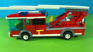 getlinkyoutube.com-LEGO CITY FIRE STATION 7208
