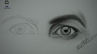 getlinkyoutube.com-تعلم رسم العيون تخطيط وتظليل العين بشكل بطيء how to draw eyes