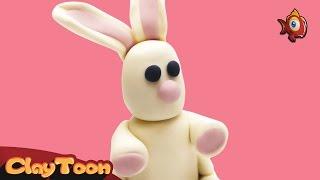 Rabbit - Polymer clay tutorial | أرنب - تشكيل صلصال للأطفال