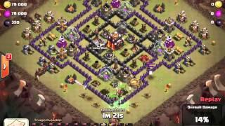getlinkyoutube.com-TH9 vs TH10 Clan War Hogs 3 star