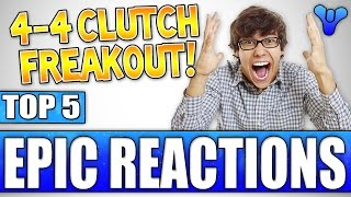 Epic Trials 4-4 Clutch Freakout! Top 5 Funny Reactions To Kills / Death - Episode 421
