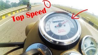 Classic/Bullet 500 Fi TOP SPEED in TRAFFIC!! | Royal Enfield Classic 500 goes CRAZY at 135 km/h!!