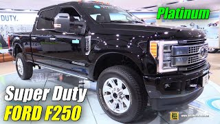2017 Ford F250 Super Duty Platinum - Exterior Interior Walkaround - Debut at 2016 Detroit Auto Show