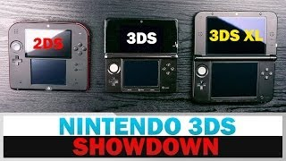 Nintendo 2DS vs. 3DS vs. 3DS XL