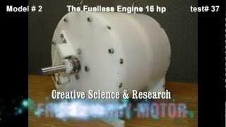 getlinkyoutube.com-The Fuelless Engine Model # 2 - 16 hp - Free Energy Electric Motor - Self Running Motor