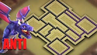 TH8 (Town Hall 8) War Base Anti Lightning Dragon (The Ghost) 2017 + Replays | Clash Of Clans