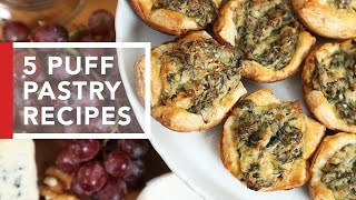 getlinkyoutube.com-5 Puff Pastry Recipes | Quick & Easy Appetizers
