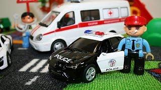 getlinkyoutube.com-Машинки мультфильм - Скорая помощь, полицейская машина - Развивающие мультики