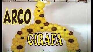 getlinkyoutube.com-Como Fazer Arco de Balões /Girafa