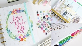 getlinkyoutube.com-My Happy Planner Set Up, DIY Planner Band & Dashboard, Shaker, Laminate Tabs | Charmaine Dulak