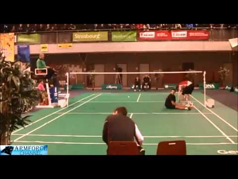 Badminton - amazing and funny moments, rallies and trickshots