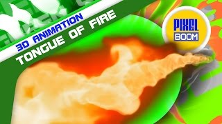 Green Screen Attack Tongue of Fire Energy - Footage PixelBoom