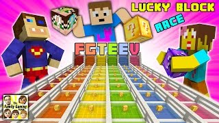 getlinkyoutube.com-FGTEEV Minecraft Lucky Block Race #1:  We Are Such Cheaters & Mom's a Noob (Mod Mini-Game)