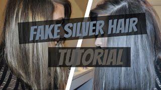 getlinkyoutube.com-Fake (temporary) Silver Hair Tutorial using Fanci-full