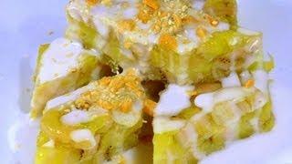 getlinkyoutube.com-Banh Chuoi Hap - Steamed Banana Cake