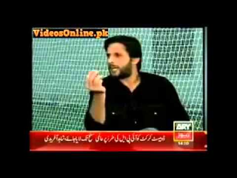 Shahid Afridi comments about girl