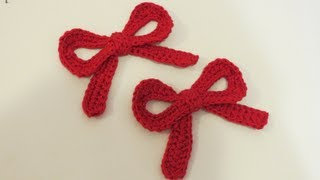 getlinkyoutube.com-كروشيه فيونكه بالباترون Crochet Bow + Battern