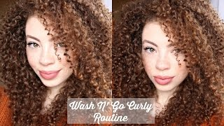 getlinkyoutube.com-Wash N' Go Curly Routine (Updated 2015)