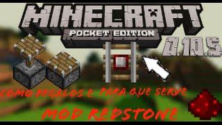 getlinkyoutube.com-Minecraft PE 0.10.5 - Mod de Redstone (como pegar o pistao e para que serve o trilho detector)