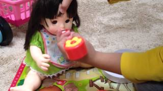 getlinkyoutube.com-ぽぽちゃんのおしゃべり弁当 ピクニックシートつき / Lunch box and Picnic Blanket of Doll