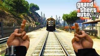 getlinkyoutube.com-GTA V - RANDOM & FUNNY MOMENTS 28 (Screw You Train, Bug Galore!)