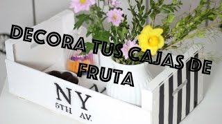 getlinkyoutube.com-Cómo decorar cajas de fruta de madera || Wood fruit box  ♥ Majissh
